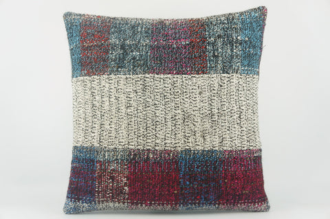 Striped Kilim pillow  ,  patchwork pillow  1492 - kilimpillowstore  - 1