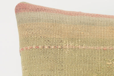 Handwoven decorative beige pillow, Decorative Kilim pillow , Bohemian style 1504 - kilimpillowstore  - 3