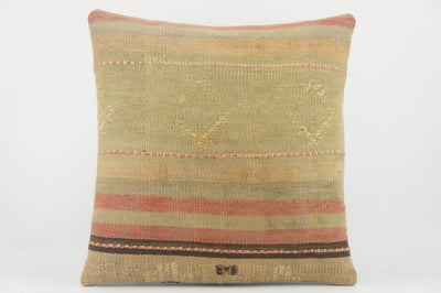 Handwoven decorative beige pillow, Decorative Kilim pillow , Bohemian style 1504 - kilimpillowstore  - 1