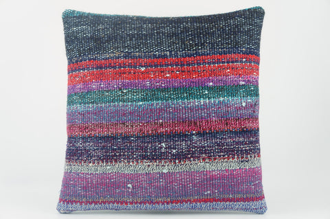 Multi colour handwoven pillow , Decorative Kilim pillow cover  1521_A - kilimpillowstore  - 1