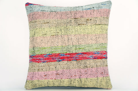 CLEARANCE Handwoven hemp pillow  , Decorative Kilim pillow cover  1561_A - kilimpillowstore  - 1