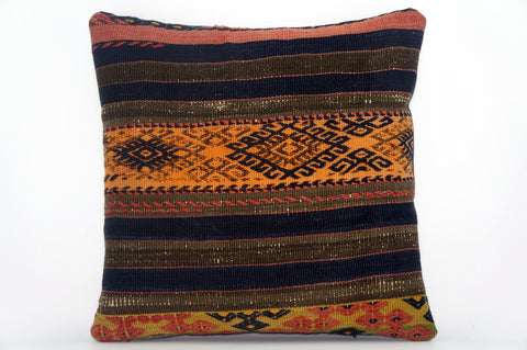 CLEARANCE Embroidered  handwoven  cushion cover , Decorative Kilim pillow  1579 - kilimpillowstore  - 1