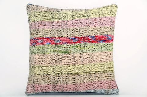 CLEARANCE Handwoven hemp pillow  , Decorative Kilim pillow cover  1562_A - kilimpillowstore  - 1