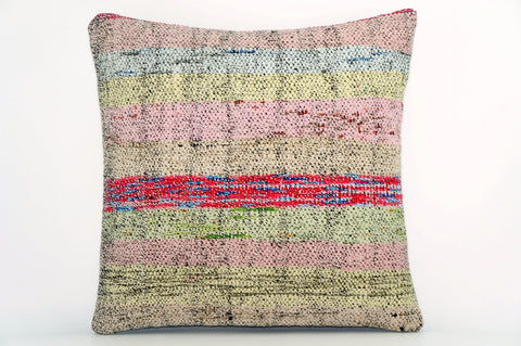 CLEARANCE Handwoven hemp pillow  , Decorative Kilim pillow cover  1563_A - kilimpillowstore  - 1