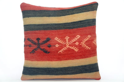 Embroidered  handwoven  kilim pillow , Decorative Kilim pillow cover 1591 - kilimpillowstore  - 1