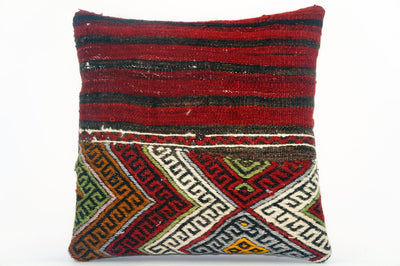 "16""  chevron zigzag pillow case, colorful accent cushion,  kilim pillow ,throw pillow cover 1608 - kilimpillowstore  - 1"