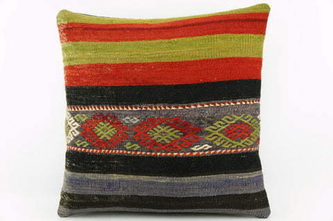 Kilim pillow cover green red    1919 - kilimpillowstore  - 1