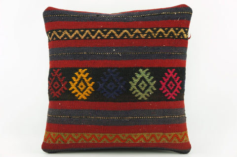 Striped throw pillow ,Kilim pillow    1937 - kilimpillowstore  - 1