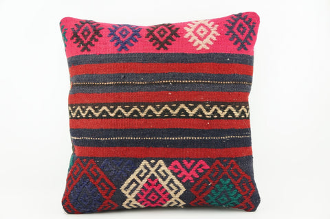 Vintage pink striped pillow cover , Zigzag Kilim pillow pink    1942 - kilimpillowstore  - 1