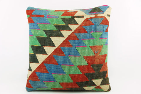 Colourful geometric kilim pillow cover ,   Colorful  Zig zag pillow ,    1984 - kilimpillowstore  - 1