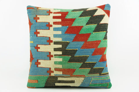 Colourful geometric chevron pillow cover ,   Colorful  Zig zag pillow ,    1985 - kilimpillowstore  - 1