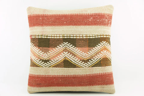 Pink chevron accent pillow   , Outdoor embroidered kilim pillow,  2012 - kilimpillowstore  - 1