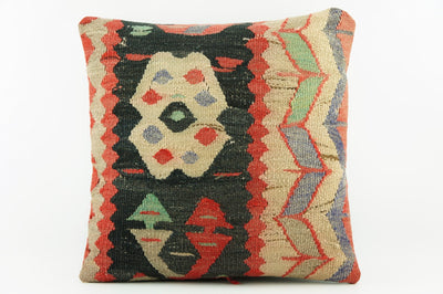 Black and beige  kilim pillow, Outdoor pillow black,   2033 - kilimpillowstore  - 1