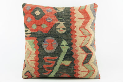 Decorative throw pillow, Outdoor pillow beige and black,   2035 - kilimpillowstore  - 1