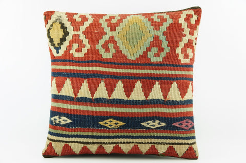 Geometric Kilim pillow, Embroidered Outdoor pillow,  Bohemian pillow cover 2040 - kilimpillowstore  - 1