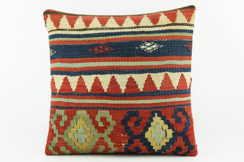Graphic pillow,  Outdoor pillow,  Bohemian kilim pillow cover 2043 - kilimpillowstore  - 1