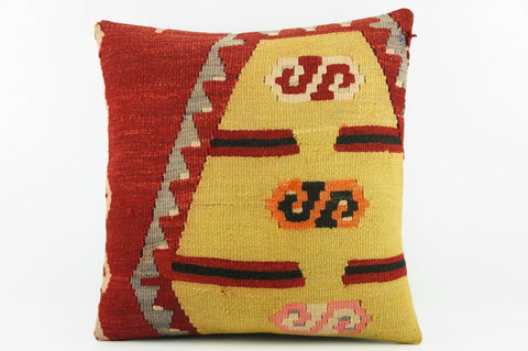 Throw pillow cover red and yellow  - Summers pillow covers    2077 - kilimpillowstore  - 1