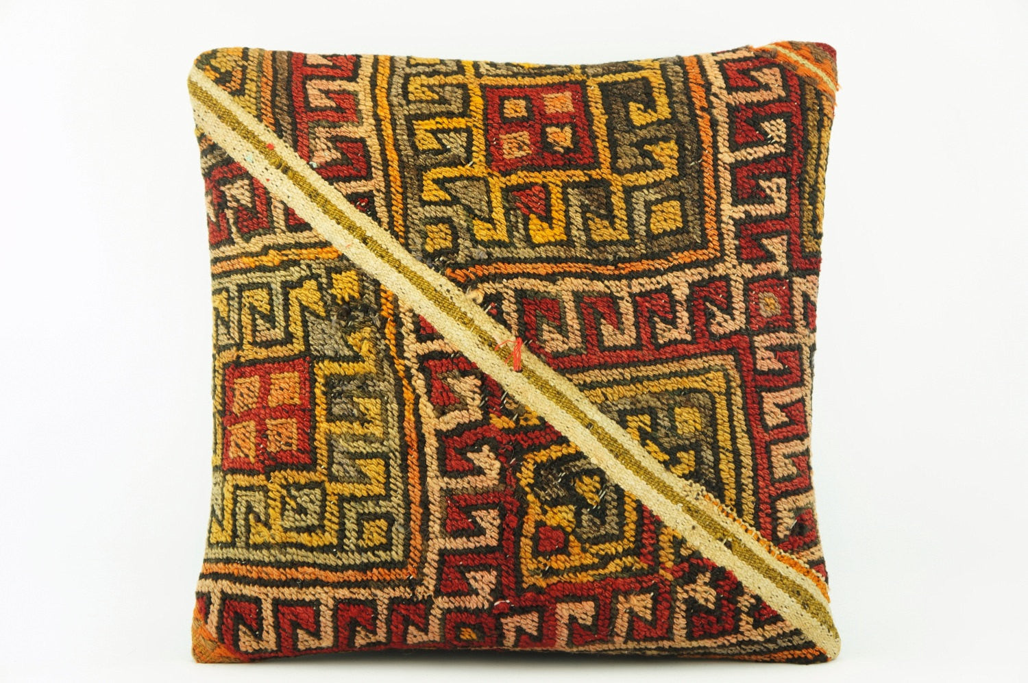 Oriantel  Kilim  pillow cover, bohemian kilim pillow, mid century  pillow , Patchwork pillow   2127