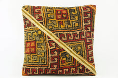 Oriantel  Kilim  pillow cover, bohemian kilim pillow, mid century  pillow , Patchwork pillow   2127 - kilimpillowstore  - 1