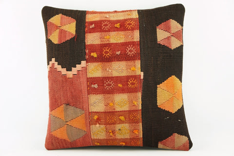 Orange and brown  Decorative kilim  pillow cover  ethnic  pillow , mid century modern   2147 - kilimpillowstore  - 1