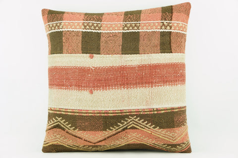 Kilim  pillow cover,  throw  pillow , ethnic decor,  pink and cream 2164 - kilimpillowstore  - 1