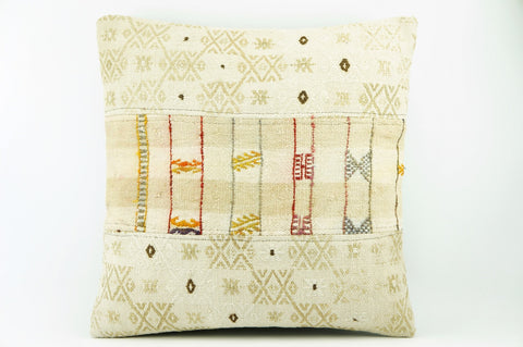 Kilim  pillow case 16,  throw  cushion, ethnic decor,  Mediterranean  decor,  2195 - kilimpillowstore  - 1