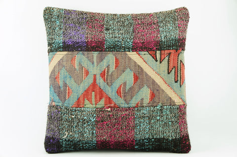 Geometric  Kilim  pillow cushion 16,  throw  cushion, ethnic decor,  Mediterranean  decor,  2176 - kilimpillowstore  - 1