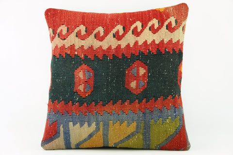 Kilim  pillow case 16,  throw  cushion, ethnic decor,  Mediterranean  decor,  2202 - kilimpillowstore  - 1