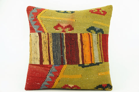 Kilim  pillow case 16,  throw  cushion, Ethnic pillow, Euro sham, Bohemian pillow   2231 - kilimpillowstore  - 1