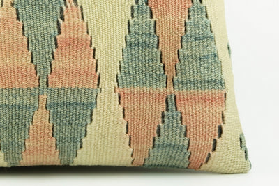 Kilim  pillow cover 16, throw cushion, Ethnic pillow, Boho pillow  ,teal ,blue , beige 2278_A - kilimpillowstore  - 4
