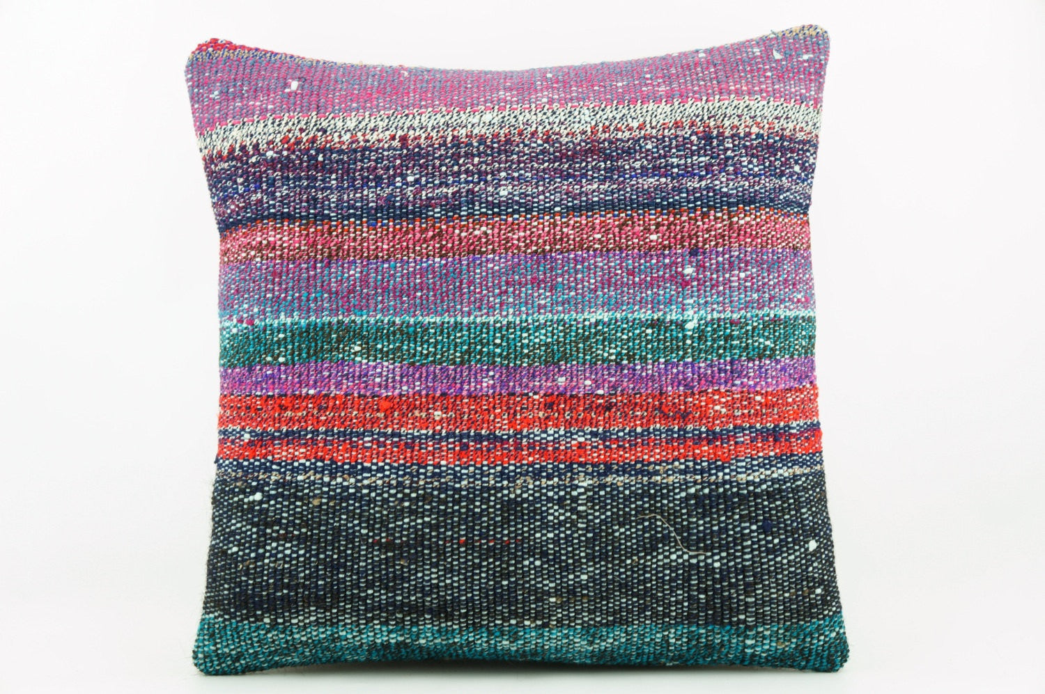 Striped multicolor Kilim  pillow cover 16, Boho pillow , soft colours 2283_A