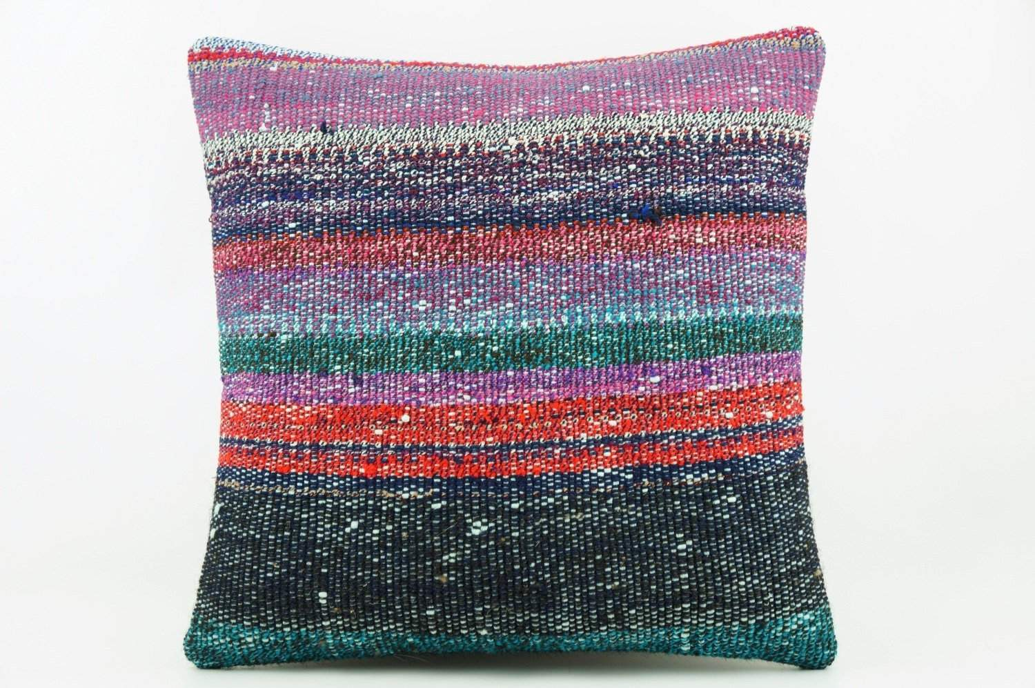 Striped multicolor Kilim  pillow cover 16, Boho pillow , soft colours 2284_A