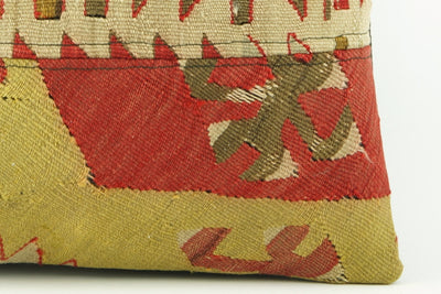 Kilim  pillow case 16,  throw  cushion, Ethnic pillow, Euro sham, Bohemian pillow   2233 - kilimpillowstore  - 4