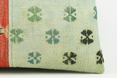 Green patchwork  Kilim  pillow cover   2269 - kilimpillowstore  - 4