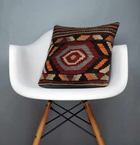 Hand embroidered  pillow cover , Mid century decor ,  Decorative kilim  pillow cover 2350 - kilimpillowstore  - 1