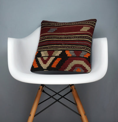 Hand embroidered  pillow cover , Mid century decor ,  Decorative kilim  pillow cover 2352 - kilimpillowstore  - 1