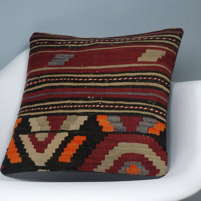 Hand embroidered  pillow cover , Mid century decor ,  Decorative kilim  pillow cover 2352 - kilimpillowstore  - 2