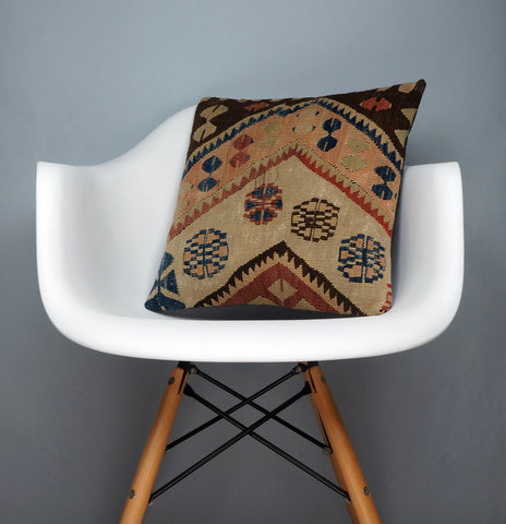 Modern Kilim  pillow cover ,Boho  pillow ,Handwoven kilim pillow , Shabby chic home decor 2367 - kilimpillowstore  - 1