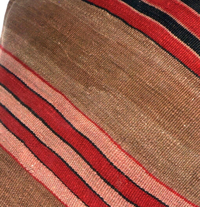 Brown, Red, Striped  Kilim  pillow cover ,Boho  pillow ,Handwoven kilim pillow , Shabby chic home decor 2387 - kilimpillowstore  - 3