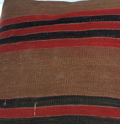 Brown, Red, Striped  Kilim  pillow cover ,Boho  pillow ,Handwoven kilim pillow , Shabby chic home decor 2389 - kilimpillowstore  - 3
