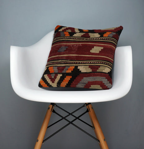 Hand embroidered  pillow cover , Mid century decor ,  Decorative kilim  pillow cover 2344 - kilimpillowstore  - 1