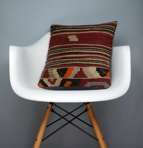 Hand embroidered  pillow cover , Mid century decor ,  Decorative kilim  pillow cover 2351 - kilimpillowstore  - 1