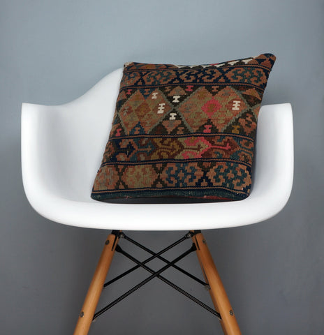 Kilim  pillow case 16,  throw  cushion, Mid century pillow, Euro sham  2399 - kilimpillowstore  - 1