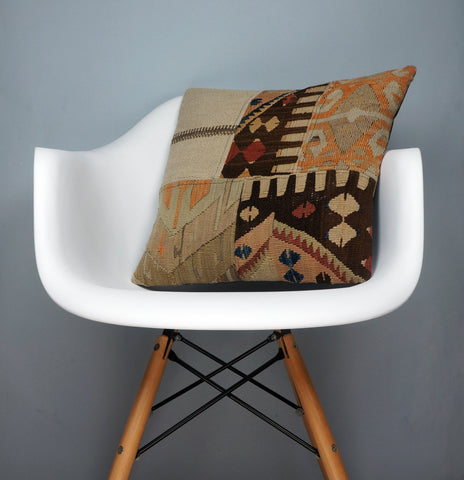 CLEARANCE Decorative patchwork pillow cover made from old kilims   2429 - kilimpillowstore  - 1
