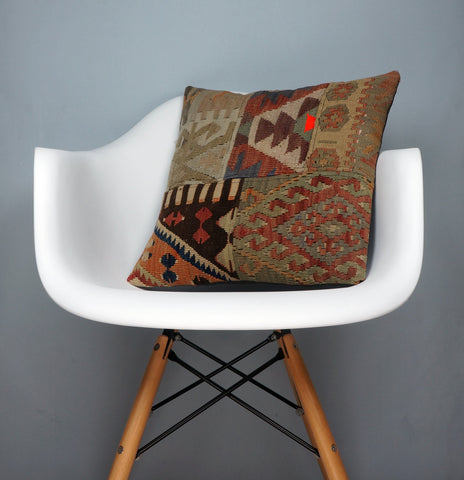 CLEARANCE Decorative patchwork pillow cover made from old kilims   2430 - kilimpillowstore  - 1