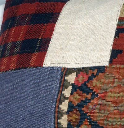 CLEARANCE Decorative patchwork pillow cover made from old kilims   2432 - kilimpillowstore  - 3