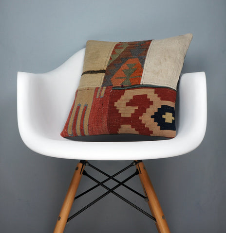 Kilim  pillow cover, bohemian kilim pillow, Throw  pillow , Patchwork pillow case  2466 - kilimpillowstore  - 1