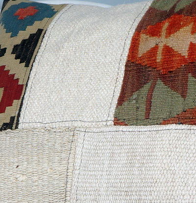 Patchwork Kilim  pillow case 16,  throw  cushion, ethnic decor,  Mediterranean  decor,  2448 - kilimpillowstore  - 3
