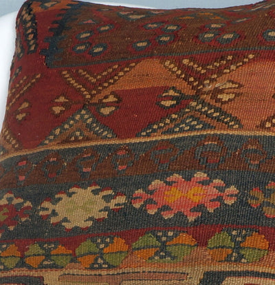 Kilim  pillow cover 16, throw cushion, Ethnic pillow, Boho pillow Multi colour 2709 - kilimpillowstore  - 3