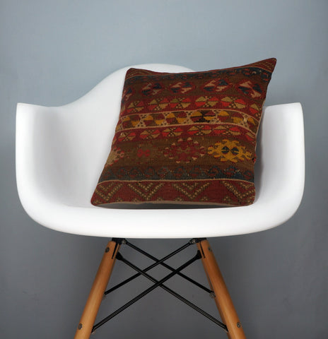 Kilim  pillow cover 16, throw cushion, Ethnic pillow, Boho pillow Multi colour 2699 - kilimpillowstore  - 1